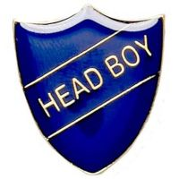 ShieldBadge Head Boy Blue</br>SB017B